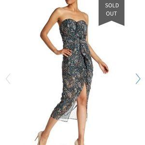 Veronica Beard Peyton Strapless Ruched midi Dress